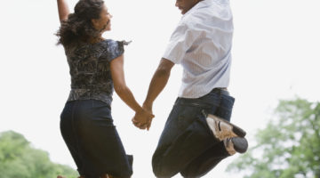 ways to make your anniversary fun Couple Celebrate Happy Jump