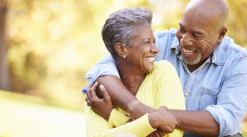 Couple Senior Hug Laugh becoming one in your marriage